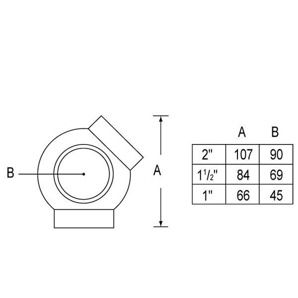 SS-329 Ball Elbow(135º)-1